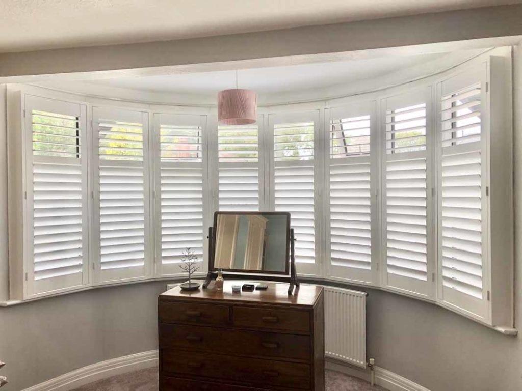 Platation style window shutters in Surrey